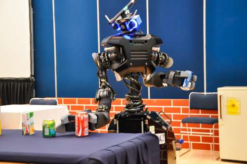 Intelligent robots as models for studying human communication