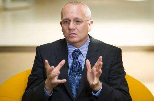 Jean-Yves Le Gall, head of the French space agency, pictured in Washington, DC on July 8, 2013