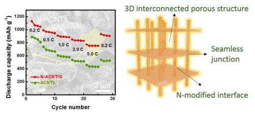Aligned carbon nanotube/graphene sandwiches
