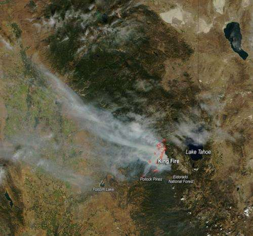 King Fire rages on in Eldorado National Forest