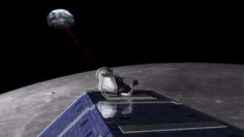 Laser-powered farewell to Moon mission