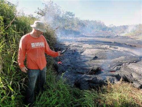 Lava from Hawaii volcano picks up speed