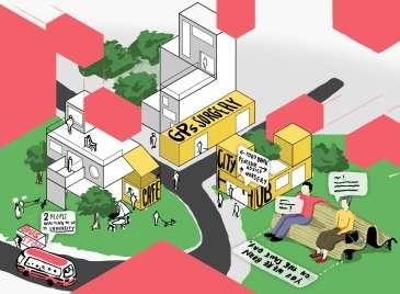 Lego housing, automatic ambulances and car-free streets