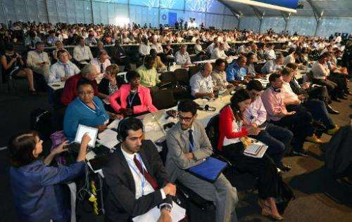 Members of representative commissions of the countries participating in the climate change conferences attend the seventh plenar