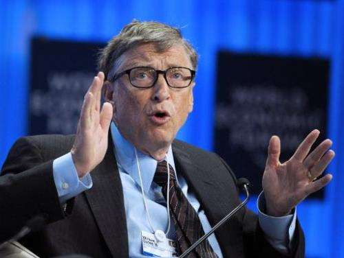 Microsoft Corp Chairman Bill Gates speaks during a session in Davos on January 24, 2014