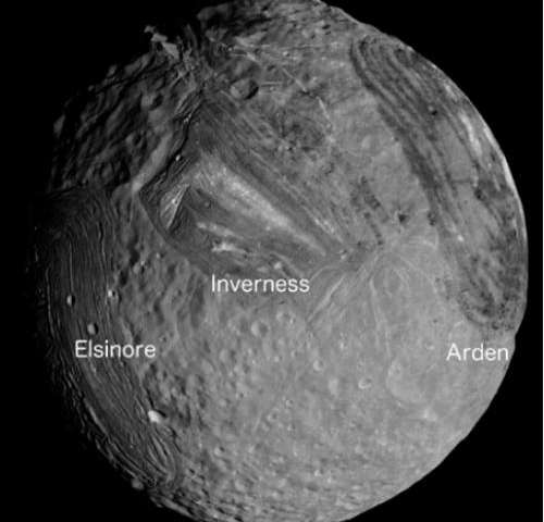 Miranda: An icy moon deformed by tidal heating