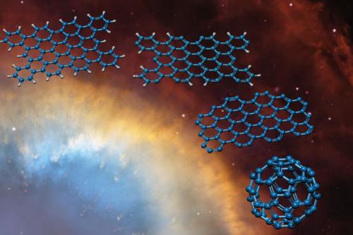 Molecular striptease explains Buckyballs in space