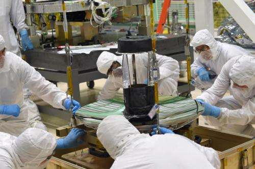 NASA lining up ICESat-2's laser-catching telescope