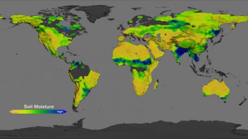 NASA's Aquarius instrument returns global maps of soil ...
