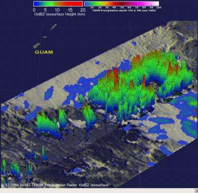 NASA saw rainfall rates increase before birth of Tropical Storm Faxai