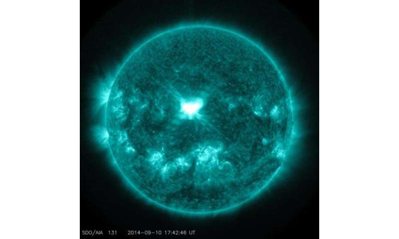 NASA sees a significant flare surge off the sun