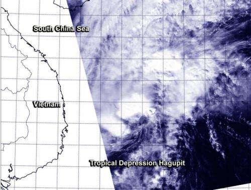 NASA sees Hagupit weaken to a depression enroute to Vietnam