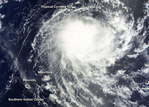 NASA sees new tropical storm threatening Mauritius and Reunion Islands
