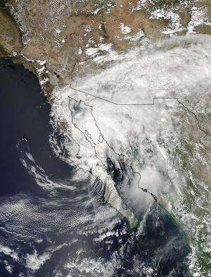 NASA sees Odile soaking Mexico and southwestern US