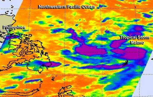 NASA sees powerful thunderstorms in Tropical Storm Matmo
