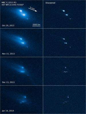 NASA's Hubble Telescope witnesses asteroid's mysterious disintegration