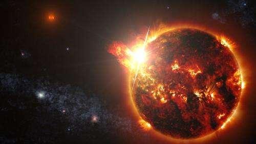 NASA's Swift mission observes mega flares from a mini star