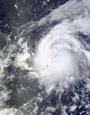 NASA's Terra satellite sees birth of Tropical Storm Vongfong in Western Pacific