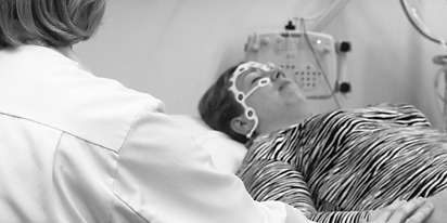 New EEG electrode set for fast and easy measurement of brain function abnormalities