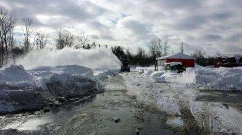 New York Air National Guard clear snow near Buffalo, New York, November 21, 2014