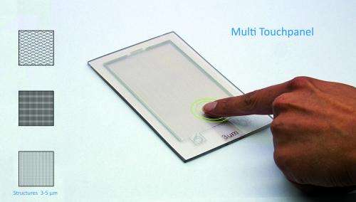 Novel process allows production of the entire circuitry on touchscreens in one step