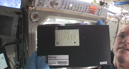 Open for business: 3-D printer creates first object in space on space station