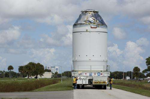 Orion Spacecraft Transfers To Launch Abort System Facility