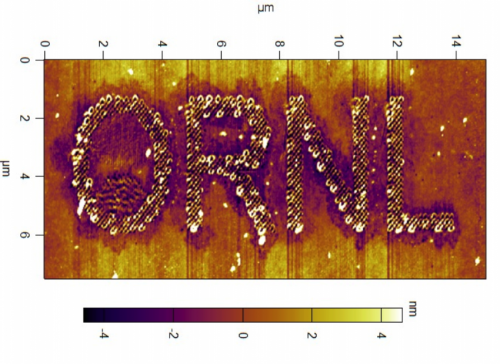 ORNL microscopy pencils patterns in polymers at the nanoscale