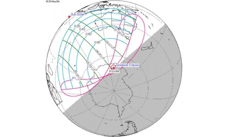 Previewing the bizzare April 29th solar eclipse