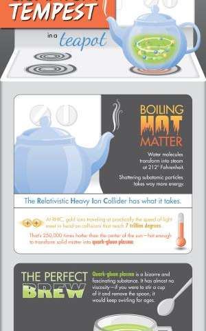 Rhic cooks up a quantum tempest in a teacup
