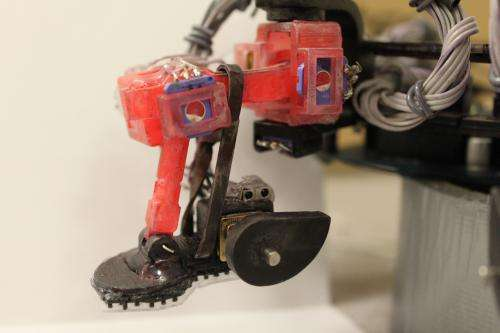Robot's sticky feet could aid space missions