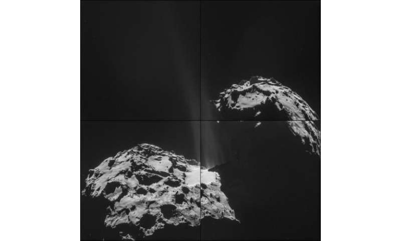 Rosetta comet fires its jets