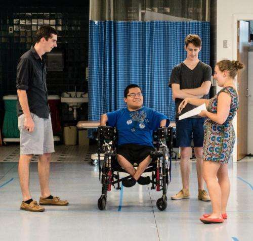 'Rowing' wheelchair is a moving experience