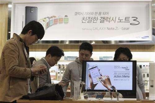 Samsung's profit falls as smartphones get cheaper