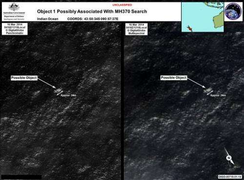 Satellites searching for missing plane have limits
