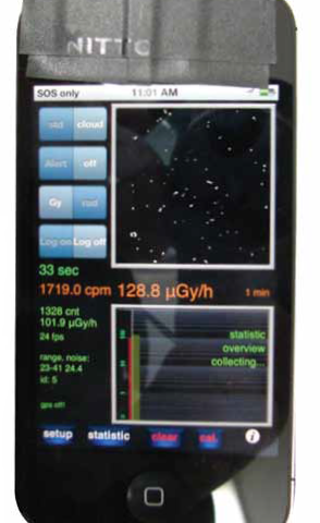 Smartphone radiation detector app tests positive