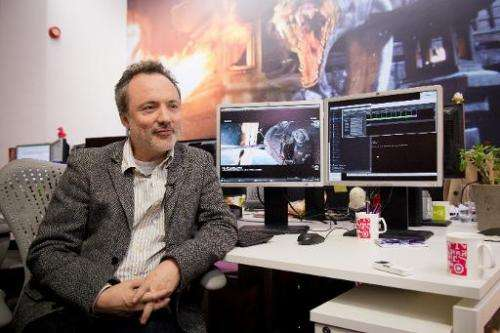 Special Effects Supervisor for The Framestore, Tim Webber, is interviewed in the Soho offices of the leading visual effects comp