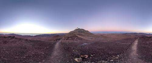 Super dry day at ESO Paranal