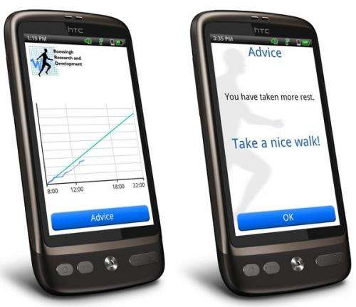 TAILORED 'ACTIVITY COACHING' BY SMARTPHONE