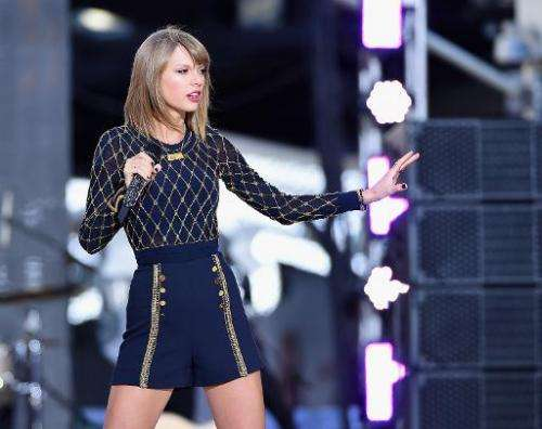 "Taylor Swift Performs On ABC's ""Good Morning America"" at Times Square in New York City on October 30, 2014"