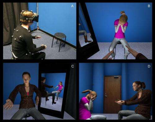 Virtual reality helps people to comfort and accept themselves
