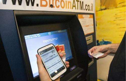 The first Bitcoin ATM machine installed in the Middle East on June 11, 2014 in the Mediterranean coastal city of Tel Aviv