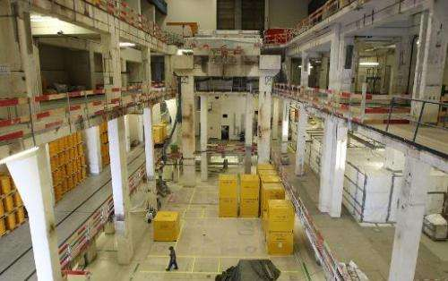 The former machine-hall of the Obrigheim Nuclear Power Plant in Germany