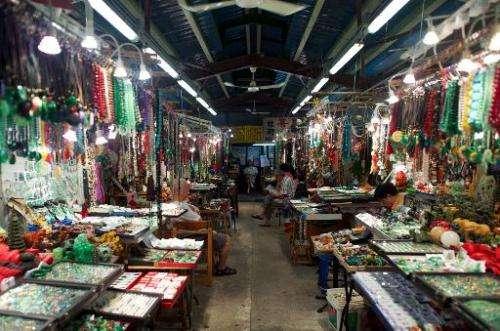 The historic Jade Market near Temple Street in Kowloon, Hong Kong, on September 5, 2013