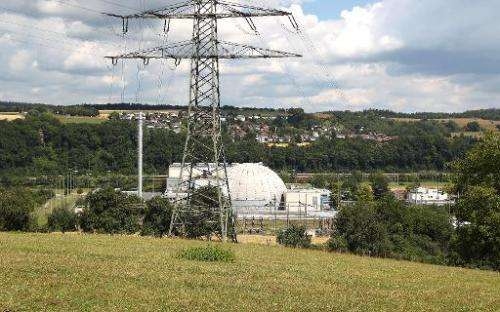 The Nuclear Power Plant in Obrigheim, Germany on July 1, 2014