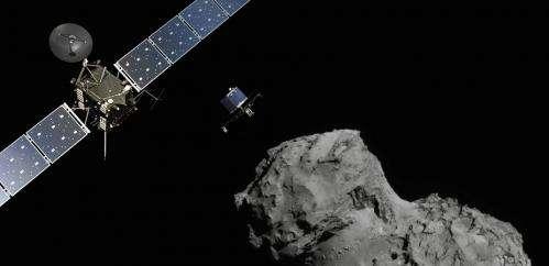 The Rosetta lander detects organic matter