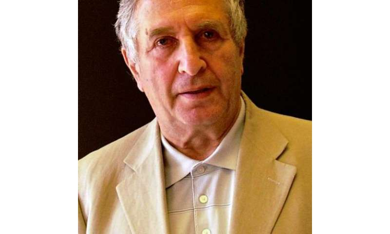 This Princeton University handout photo shows Yakov Sinai of Princeton University, USA, and the Landau Institute for Theoretical