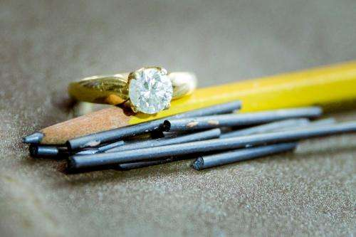 Turning graphite into diamond