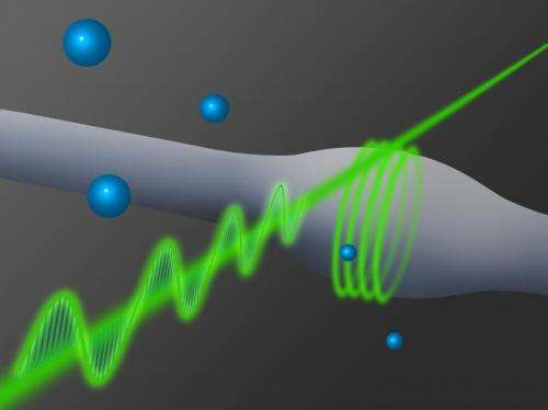 Two photons strongly coupled by glass fiber