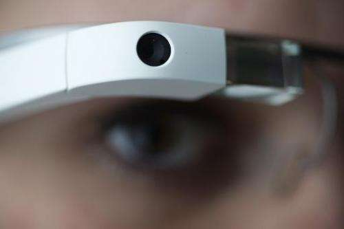 """US tech giant Intel is planning its own """"connected eyewear"""", similar to Google Glass (pictured)"""